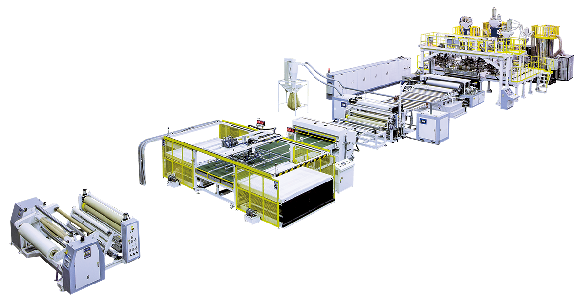 Latest delivery Co-Extrusion Sheet Making Machine to Turkey